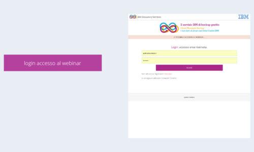 Login accesso al webinar